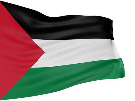 palestinian: 3D Palestinian flag