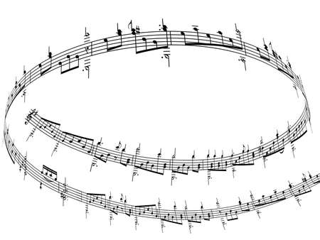 3d music notes Stock Photo - 5186811