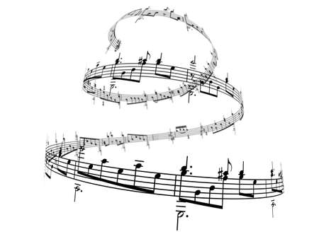 3d music notes Stock Photo - 5926279