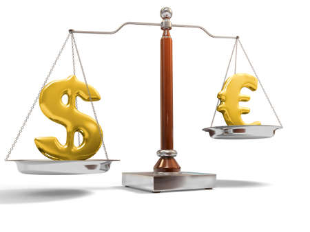 Currency on balance scale Stock Photo - 5975015
