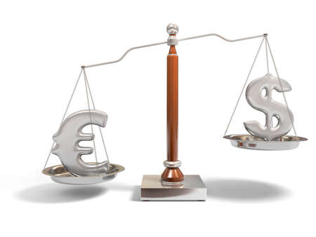 Currency on balance scale Stock Photo - 5975017