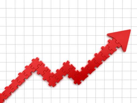 Puzzle Chart Stock Photo
