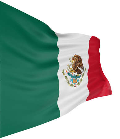 3D Mexican flag Stock Photo - 5975047
