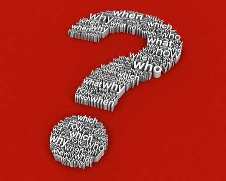 whose: Gran pregunta de preguntas  Foto de archivo