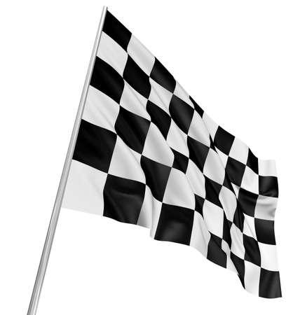 checker flag: Bandera a cuadros Foto de archivo