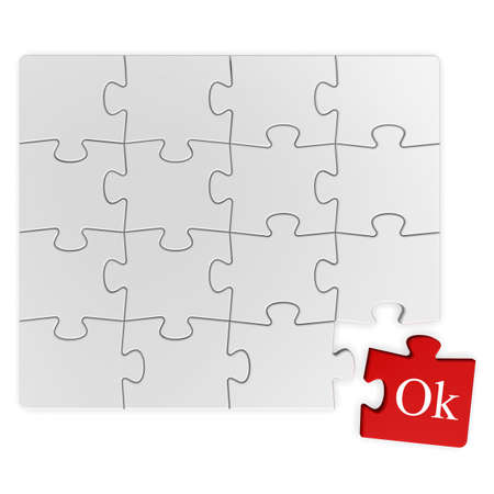 Puzzle solution Stock Photo - 6346145