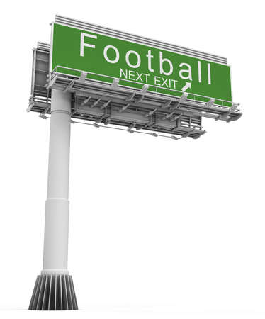 exit sign: Freeway EXIT Sign football