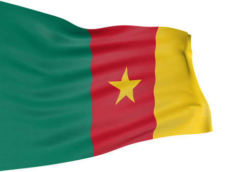 cameroon: 3D Flag of Cameroon