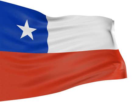 chilean flag: Bandera de Chile 3D
