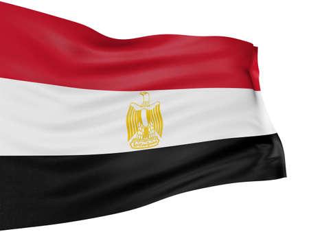 egypt flag: Bandera egipcia 3D
