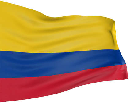 colombian flag: 3D Colombian flag