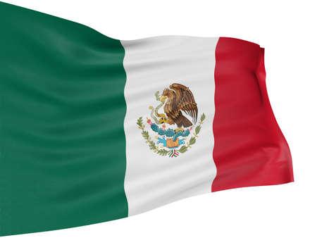 mexico flag: 3D Mexican flag