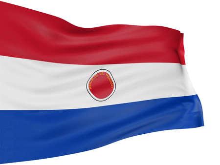 paraguayan: 3D Paraguayan flag Stock Photo