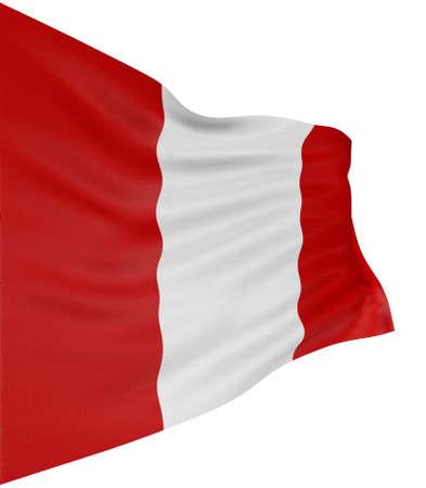 Bandera peruana 3D  Foto de archivo - 6884320