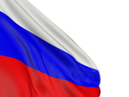 3D Russian flag Stock Photo - 6884302