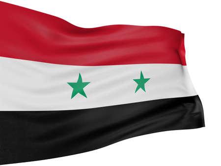 syrian: 3D syrian flag