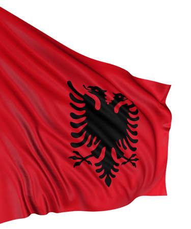 3D Albanian flag photo