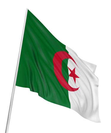 Algierski: 3D algierski Flaga