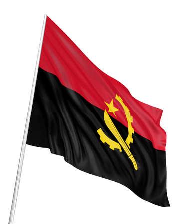 angola: 3D Angola flag Stock Photo
