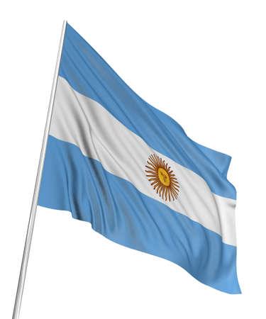 bandera argentina: Bandera de Argentina 3D  Foto de archivo