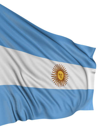3D Argentina flag Stock Photo - 7932492