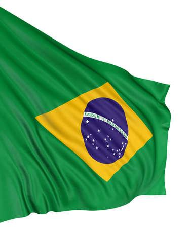 3D Brazilian flag photo