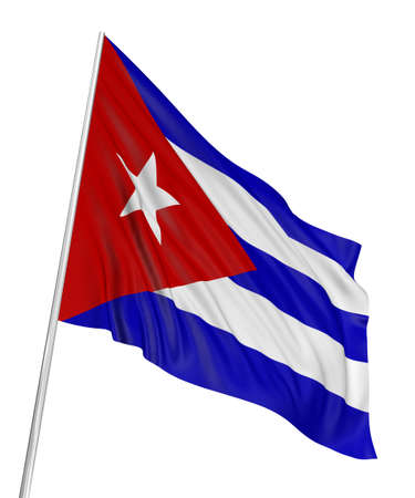 3D Cuban flag photo