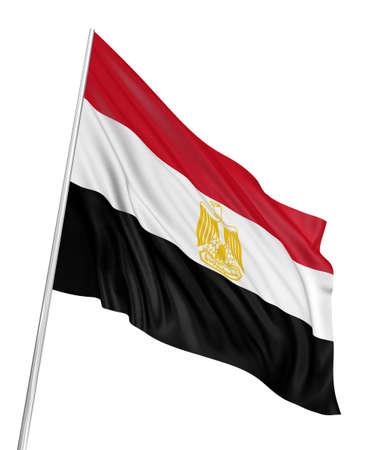 3D Egyptian flag photo