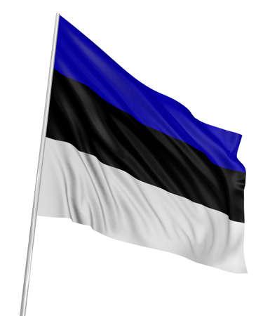 estonian: 3D Estonian flag Stock Photo