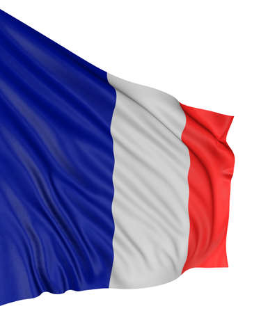 3D French flag Stock Photo