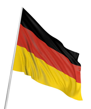 3D German flag Stock Photo