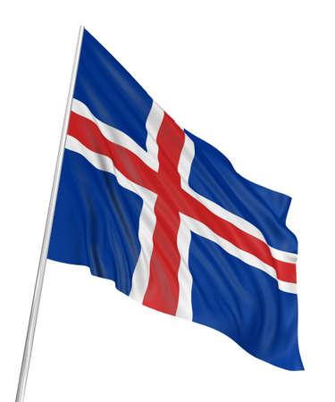 icelandic flag: Bandera de Islandia 3D  Foto de archivo