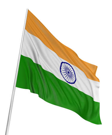 india flag: 3D Indian flag