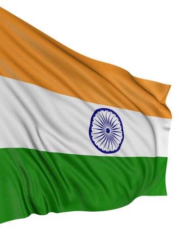 3D Indian flag Stock Photo - 7932622
