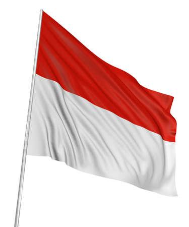 3D Indonesian flag photo