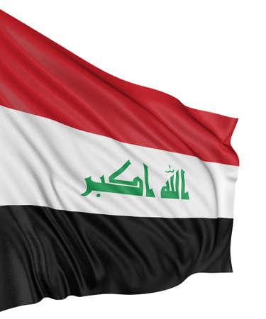 3D Iraq flag photo