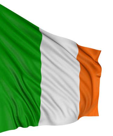 bandera de irlanda: Bandera irlandesa 3D  Foto de archivo