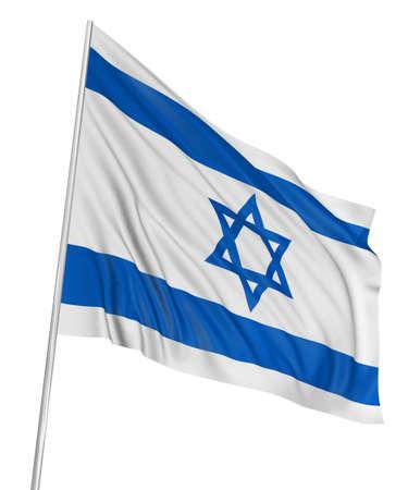 the 3d: Bandera de Israel 3D  Foto de archivo