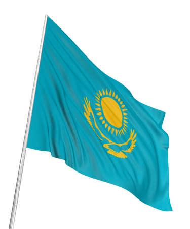 kazakh: 3D Kazakh flag