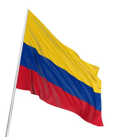 la bandera de colombia: Bandera colombiana 3D  Foto de archivo