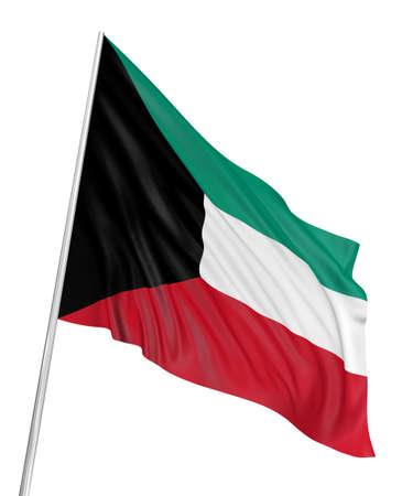 koweit: Drapeau 3D du Kowe�t