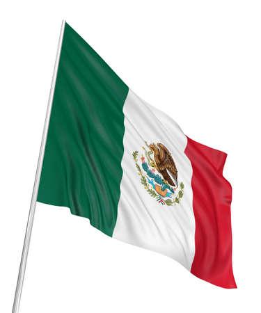 bandera de mexico: Bandera de M�xico 3D  Foto de archivo