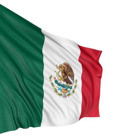 bandera de mexico: Bandera de México 3D  Foto de archivo
