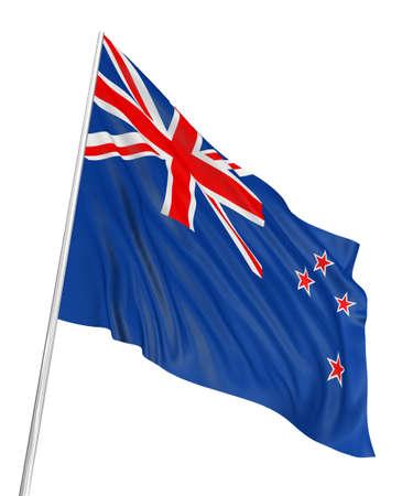 3D New Zealand flag