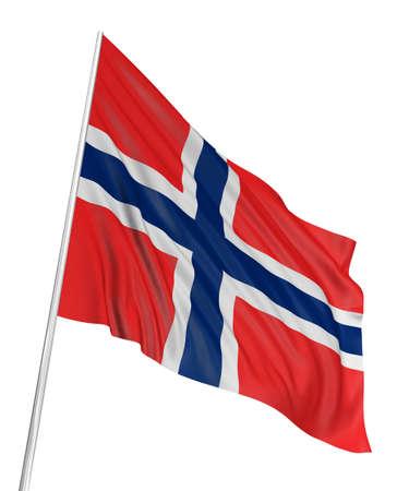 3D Norwegian flag