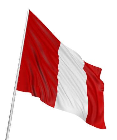 3D Peruvian flag Stock Photo
