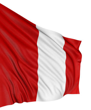 3D Peruvian flag photo