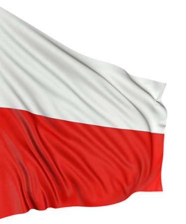 polish flag: 3D Polish flag Stock Photo