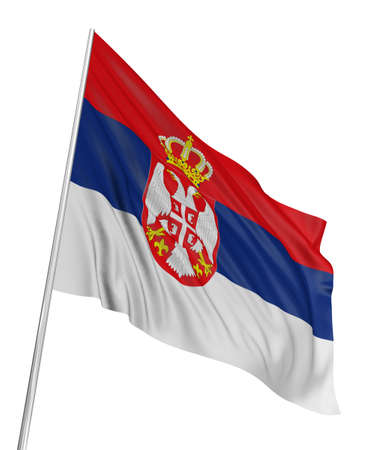 3D Serbian flag Stock Photo - 7933390