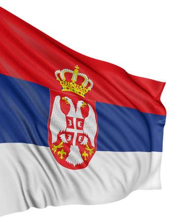 3D Serbian flag Stock Photo - 7933434